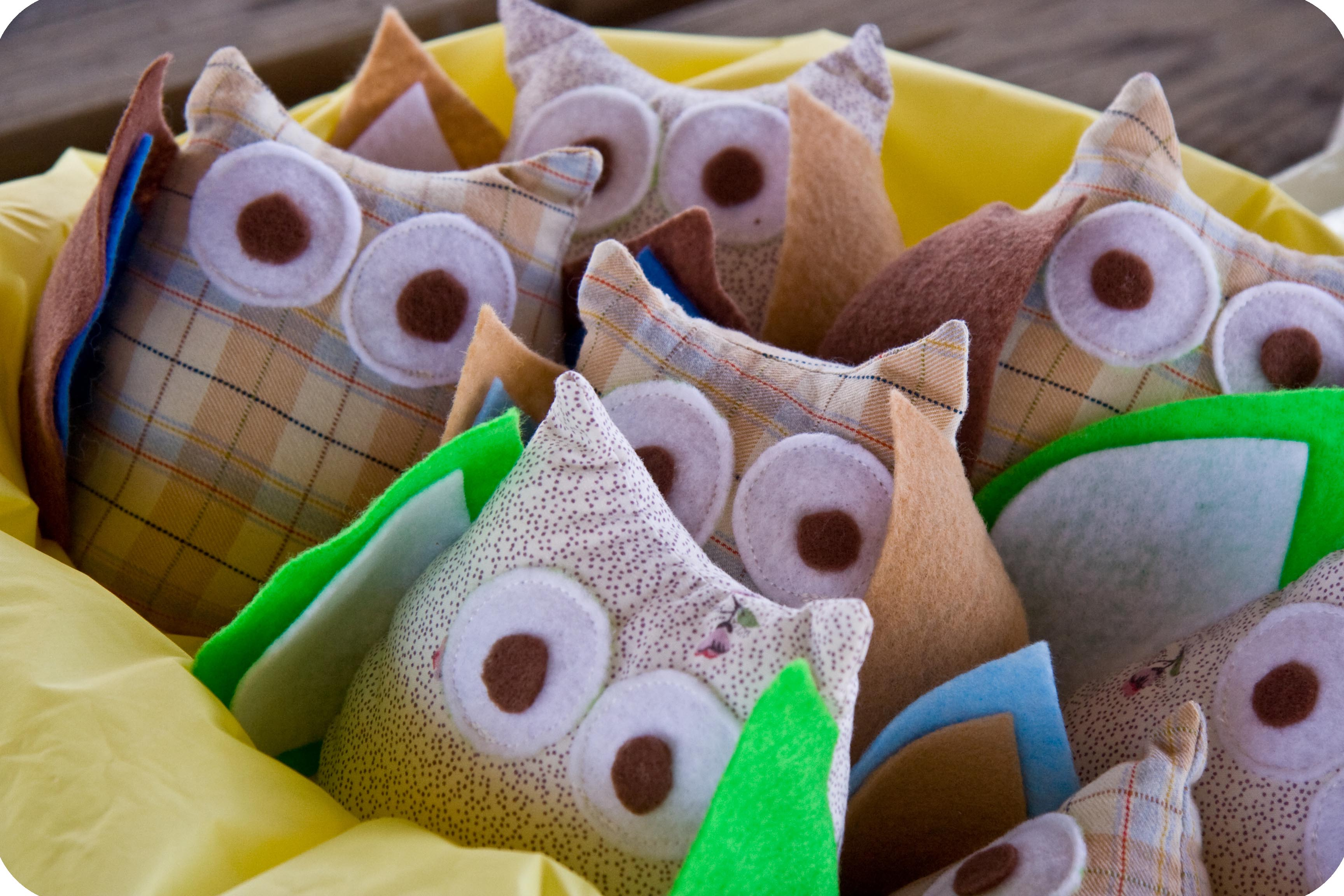Owl Party Tutorial Two Stuffed Owl Favors