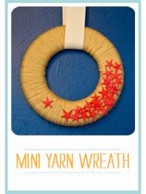 CraftyBlocks-MiniYarnWreath