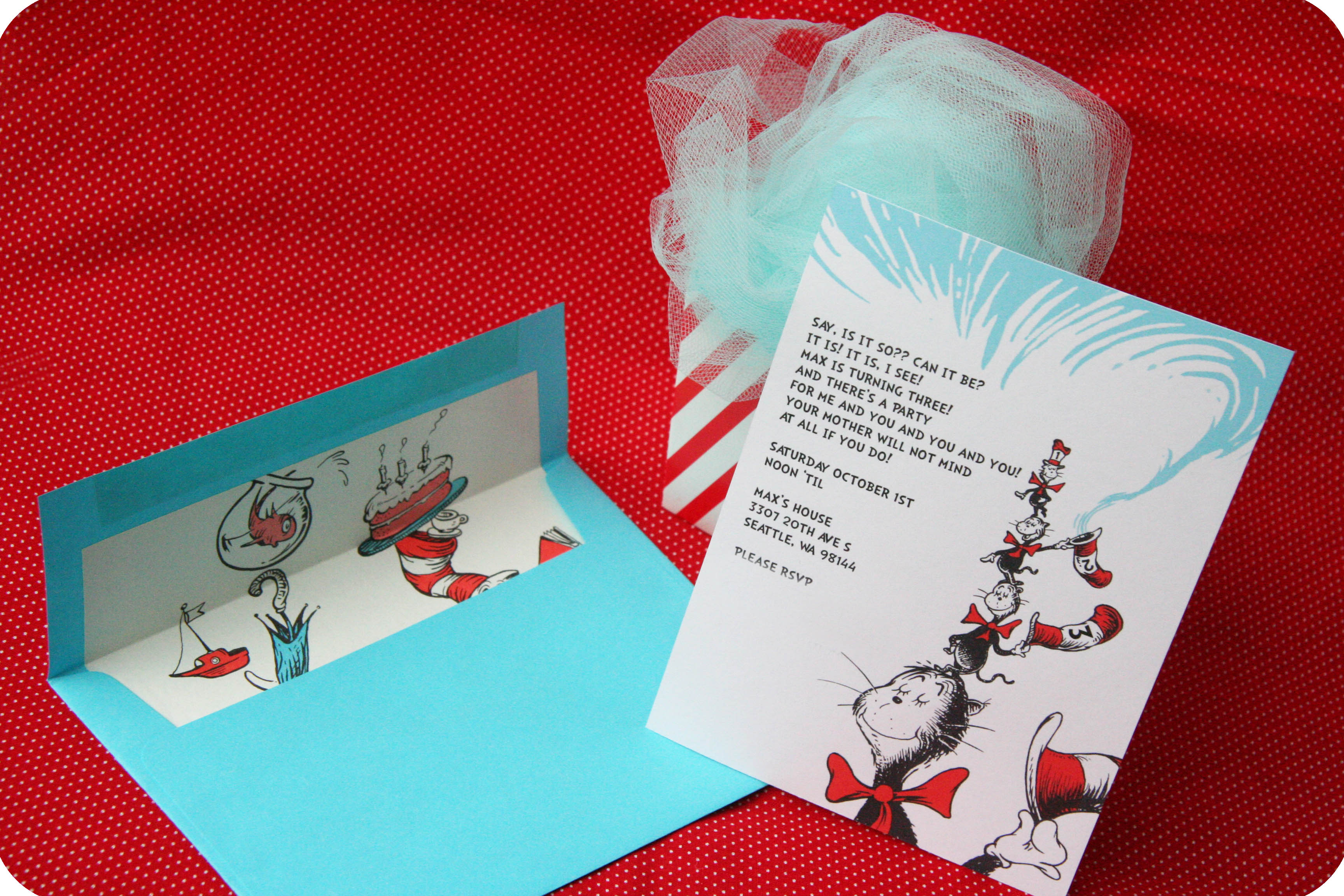 Dr. Seuss Party Series- Invites! –