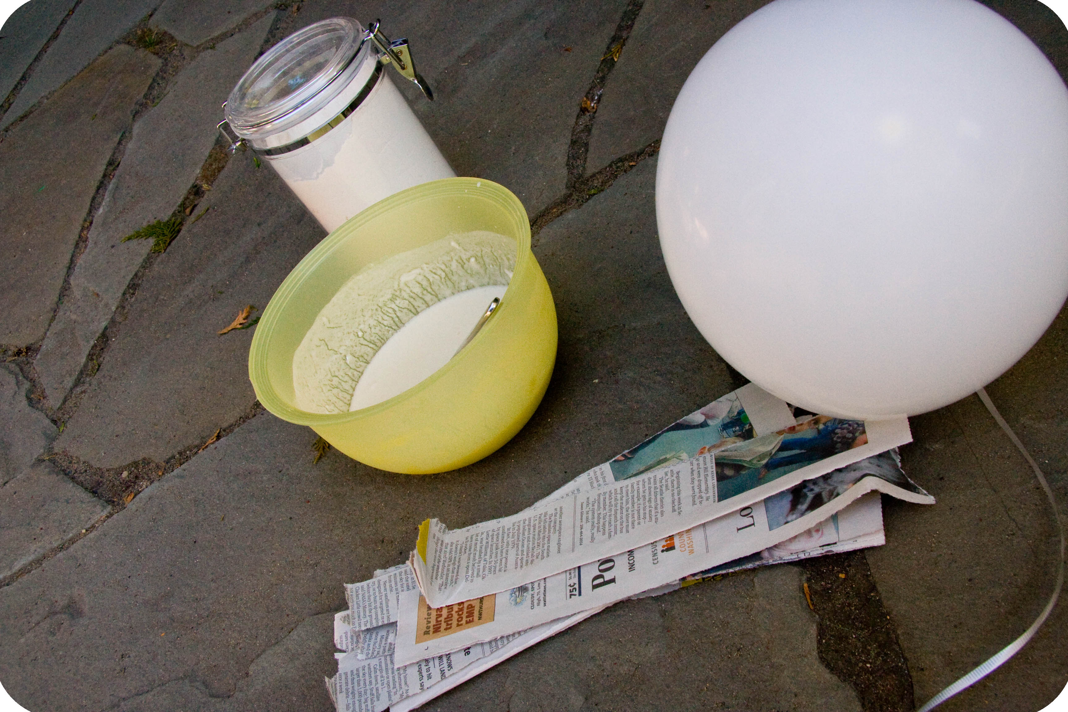 how to make paper mache harder