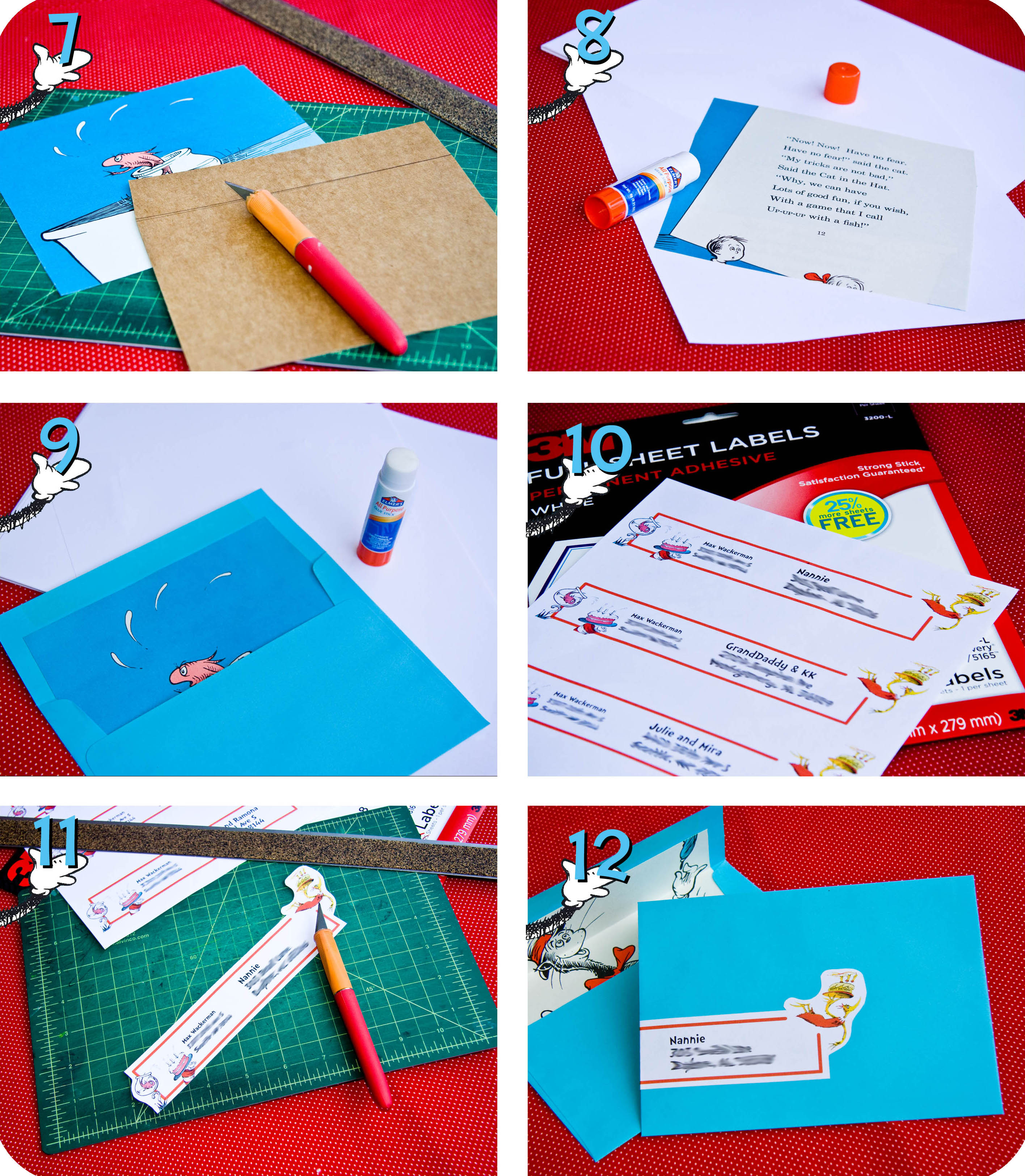 dr seuss party series invites, party invitations