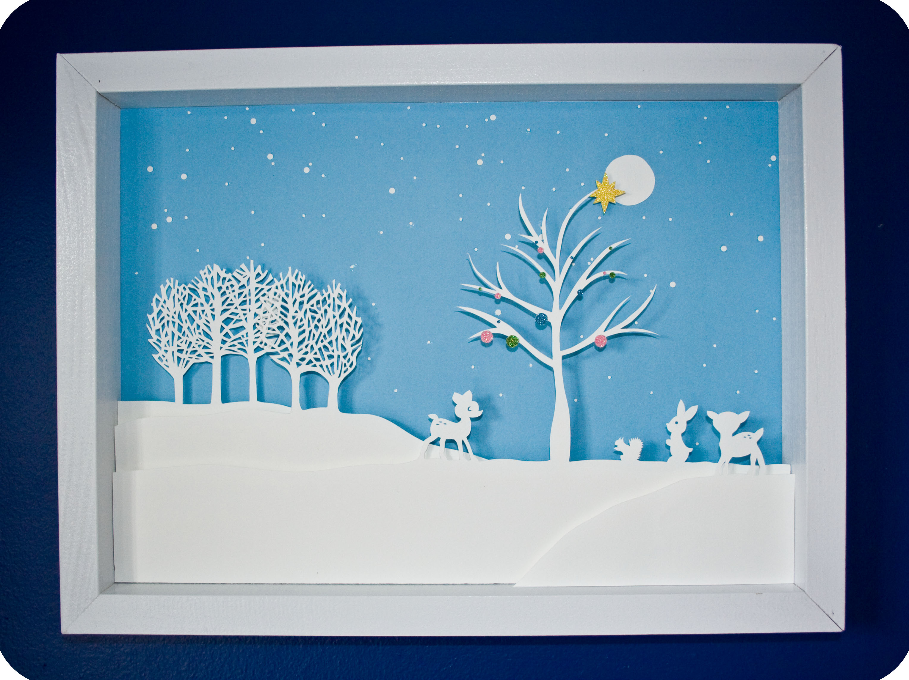 Paper Cut Winter Scene Im Feeling Crafty