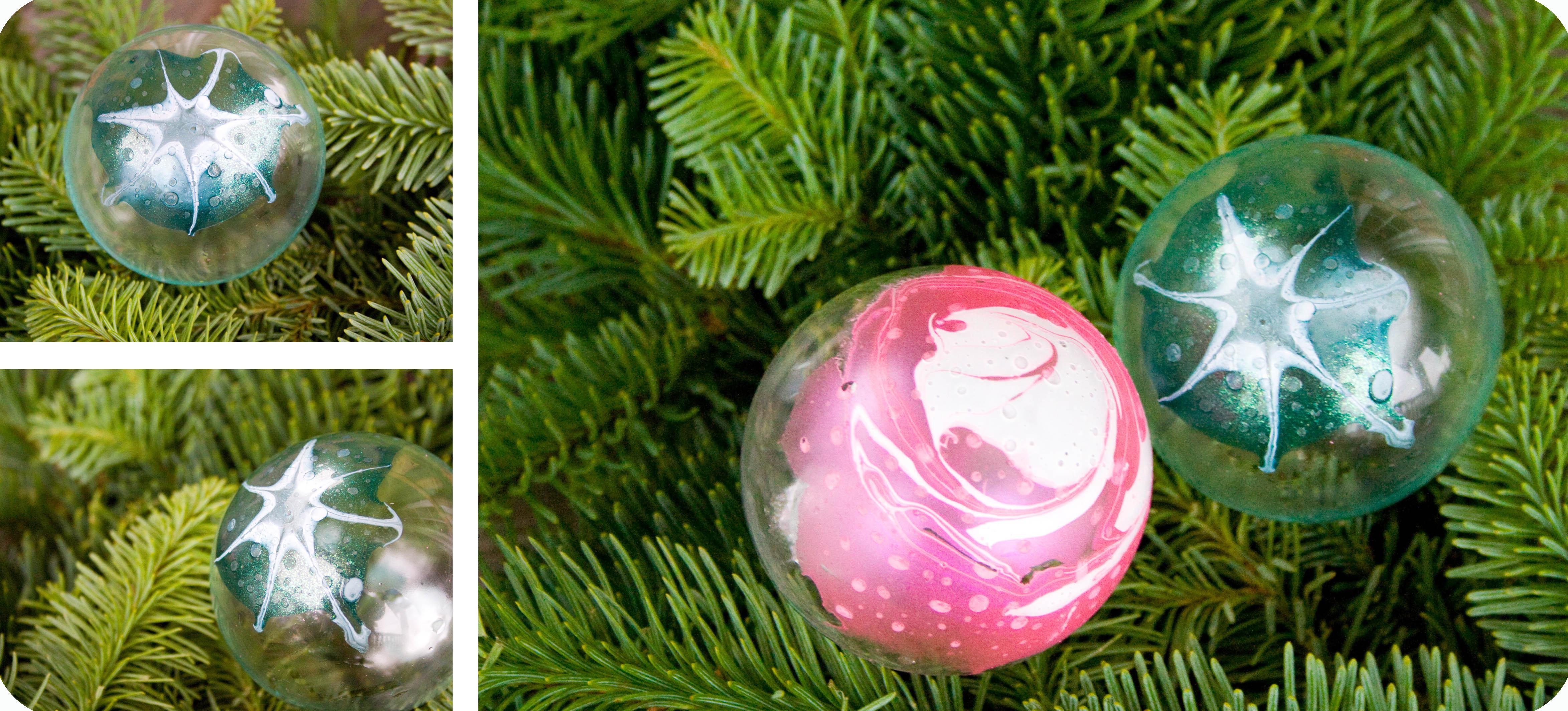 Christmas Ornaments Nail Polish : Finger nail polish ornaments
