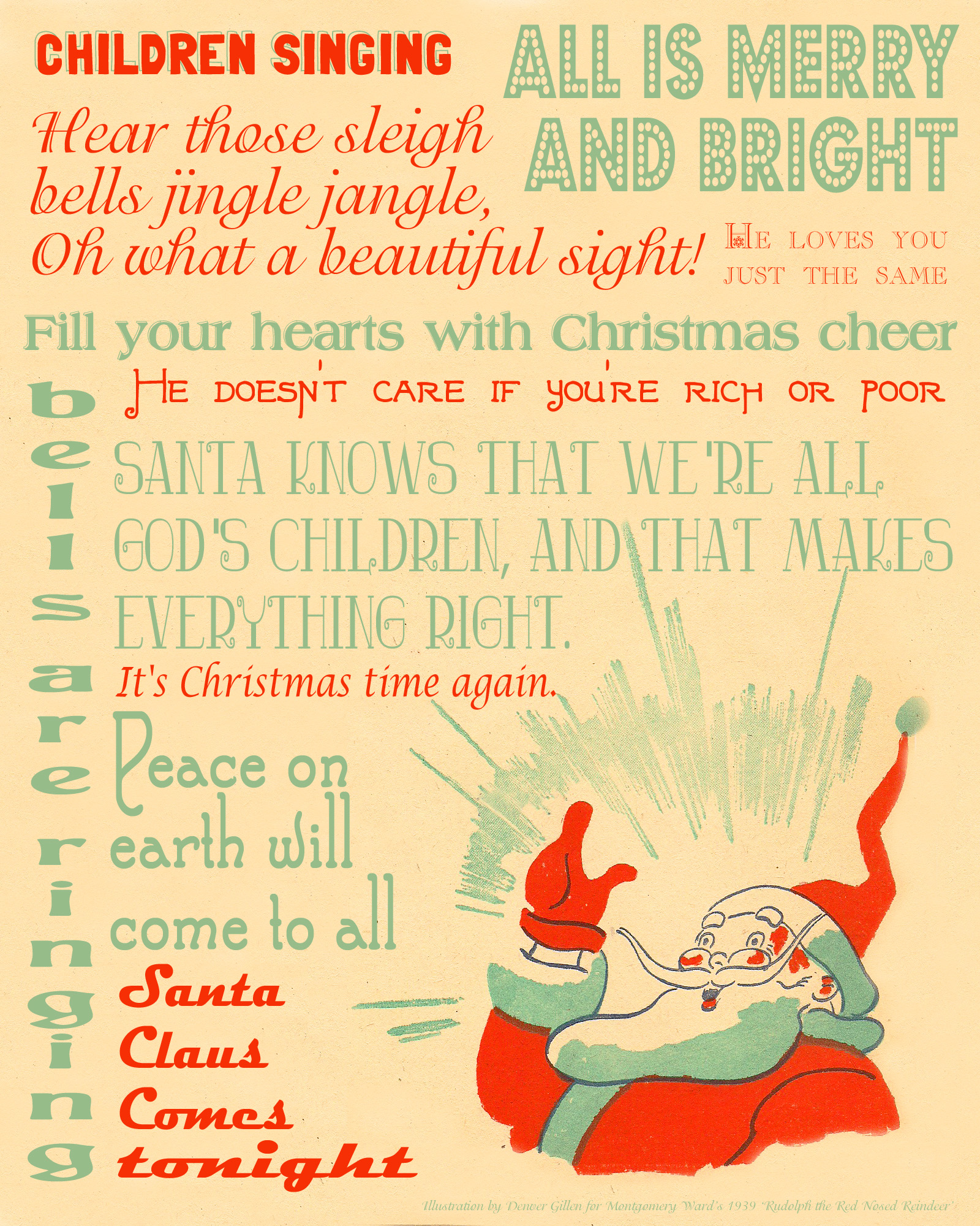 It's just a graphic of Adorable Printable Christmas Carols
