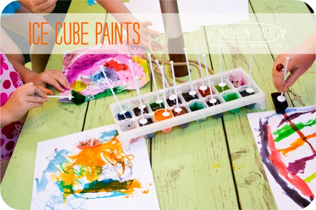 ice cube paints- I'm Feelin' Crafty