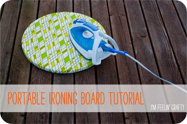 Portable ironing board tutorial title im feelin crafty