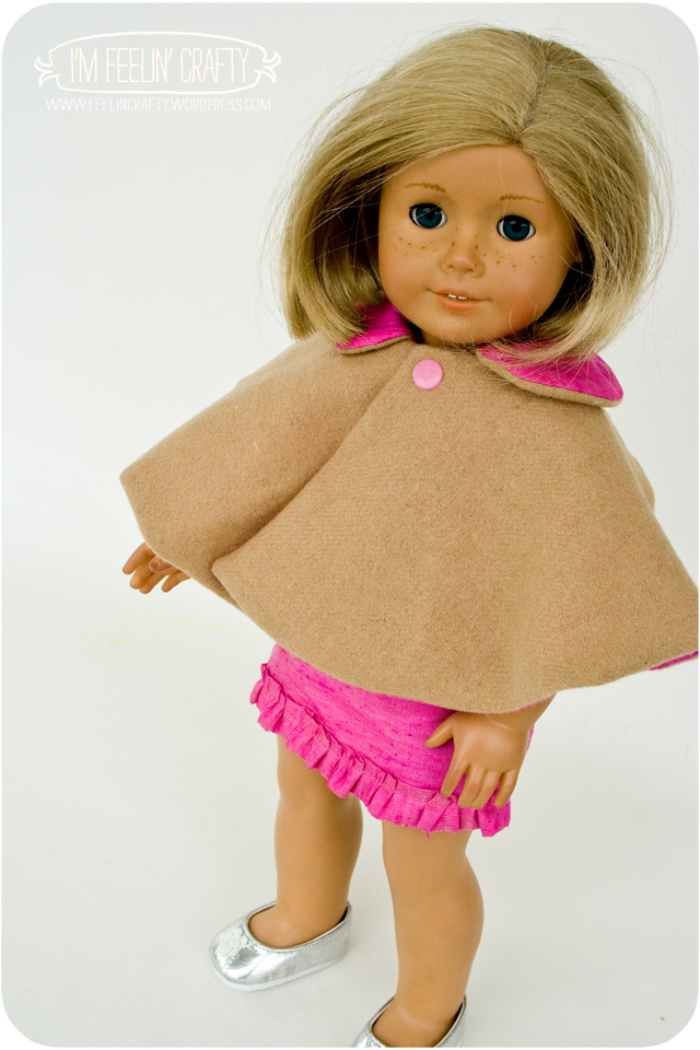 DollClothes-PinkDress-Cape-2-I'mFeelin'Crafty