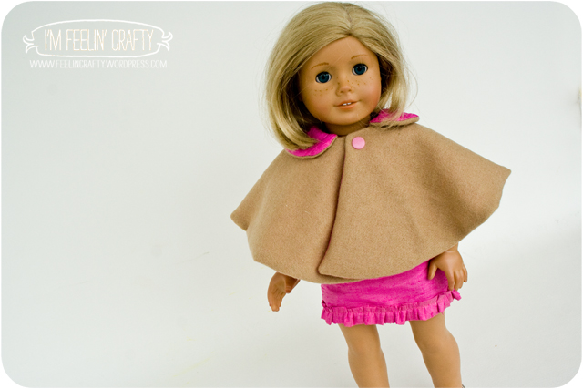 DollClothes-PinkDress-Cape-I'mFeelin'Crafty
