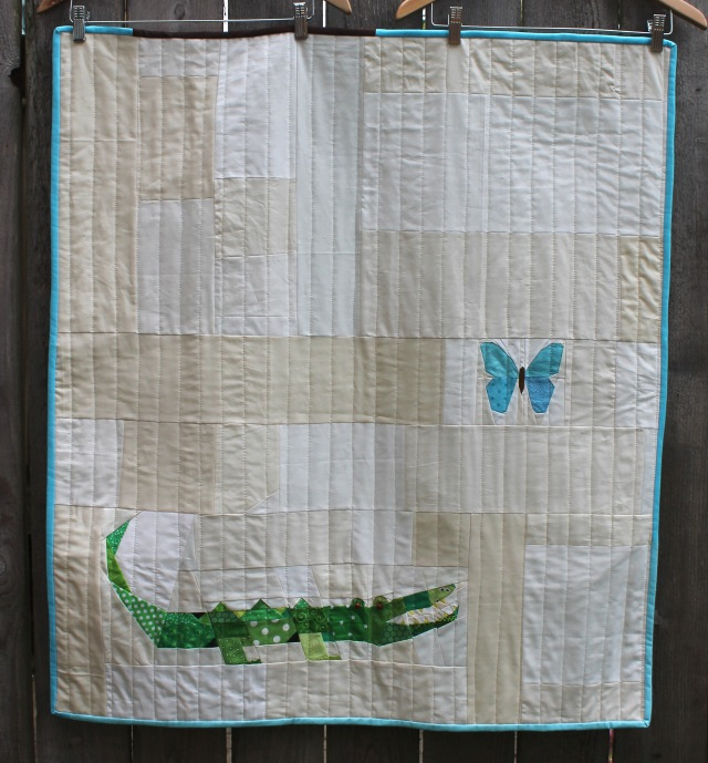 Finished Alligator quilt-Wombat