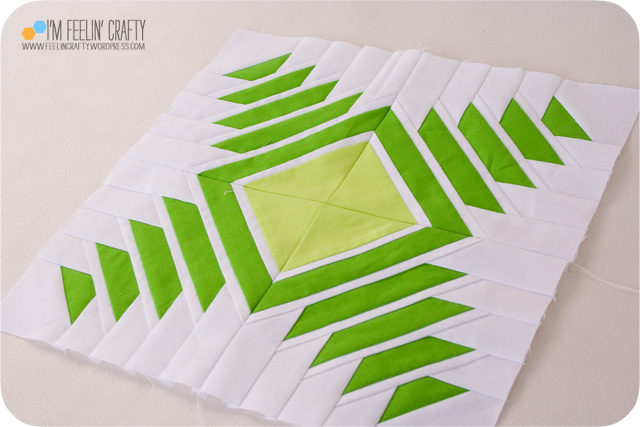Inside Out Pineapple Quilt Block Free Pattern