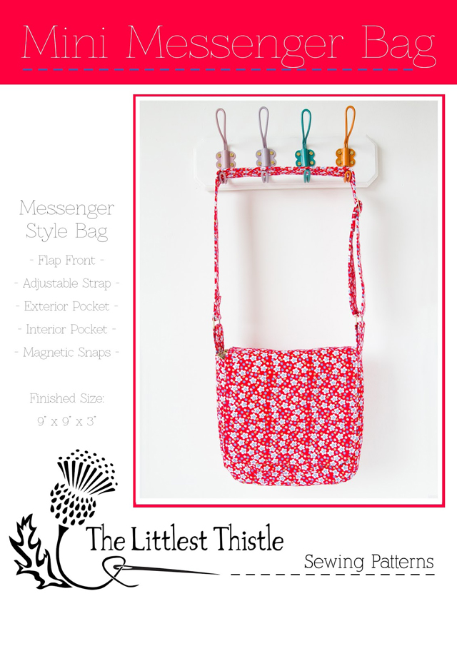 Mini Messenger Bag Pattern Cover