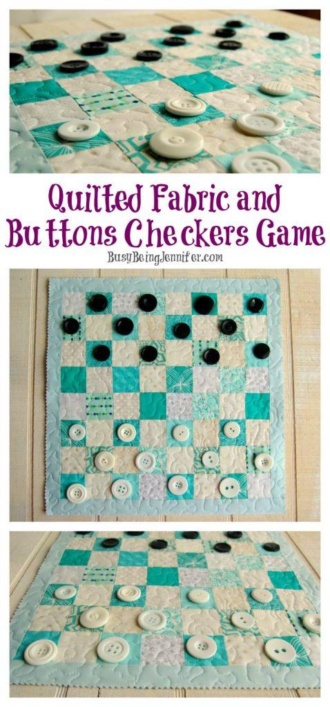 Button Checkers and Fabric Board 1