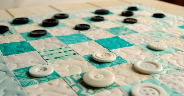 Button Checkers and Fabric Board 3