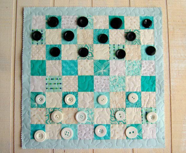 Button Checkers and Fabric Board